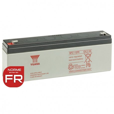Batterie NP2.1-12FR YUASA - Plomb - AGM - 12V - 2.1Ah
