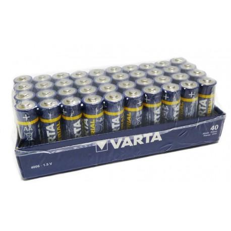 Piles VARTA Industrial LR6 - LR06 - AA - UM4 - Pack de 40 - 1.5V
