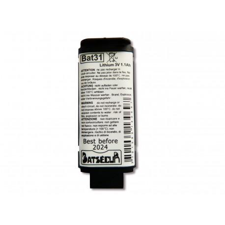 DAITEM Pile Batterie Alarme BATLI31 - 3V - 1Ah - Compatible DAITEM/LOGISTY
