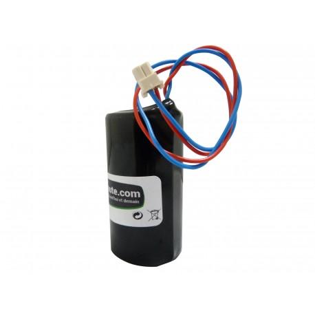 Pile Batterie Alarme Compatible VISONIC - D - LSH20 - Lithium - 3,6V - 13,0Ah + Connecteur Sirène MCS 710 / MCS 720