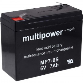 Multipower MP7-6S - 6V-7Ah Plomb AGM